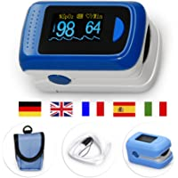 MedX5 OLED Pulsioximetro de Dedo, pulsómetro, oxímetro, medidor