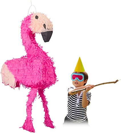 Amazon.com: Relaxdays Flamingo Pinata Colgante Niña ...