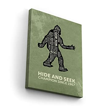 Amazon.com: Funny Bigfoot Quotes Hide and Seek World ...