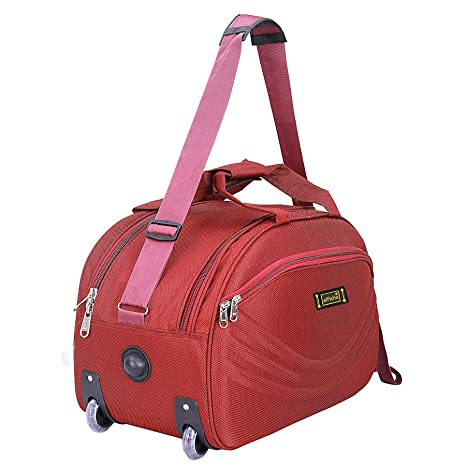 alfisha Unisex Synthetic Lightweight Waterproof Luggage Travel Duffel Bag  with Roller Wheels (S Red 15)  Amazon.in  Bags, Wallets   Luggage d501ddf938
