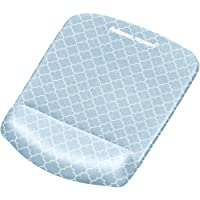 Fellowes PlushTouch Mouse Pad/Wrist Rest with FoamFusion Technology, Gray Lattice (9549701)