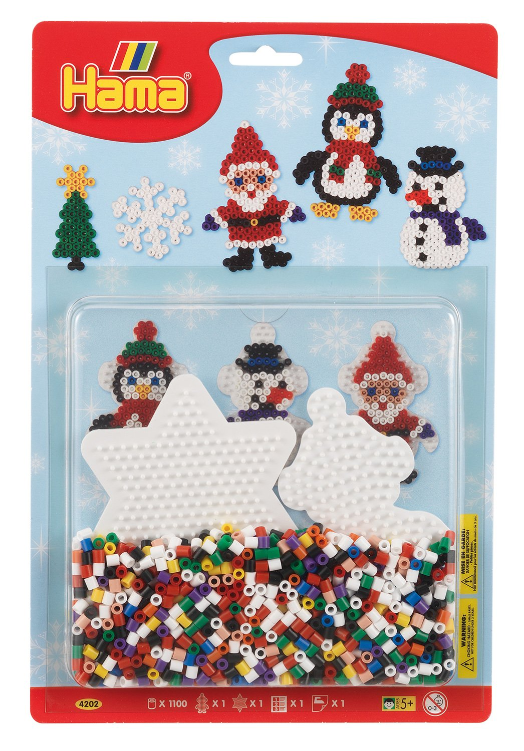 Hama Beads Large Christmas Blister Pack 4202