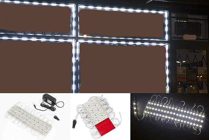 UL 24v Power Supply Package 40FT 24v Super Bright storefront LED Light Pure White Z3030 Injection Module