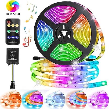 5M 150LEDs SMD5050 RGB LED Leiste Strip Streifen Band RF Remote  Fernbedienung