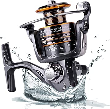 PLUSINNO® Pesca Spinning Carretes Agua Dulce Agua Salada con 5,2 ...