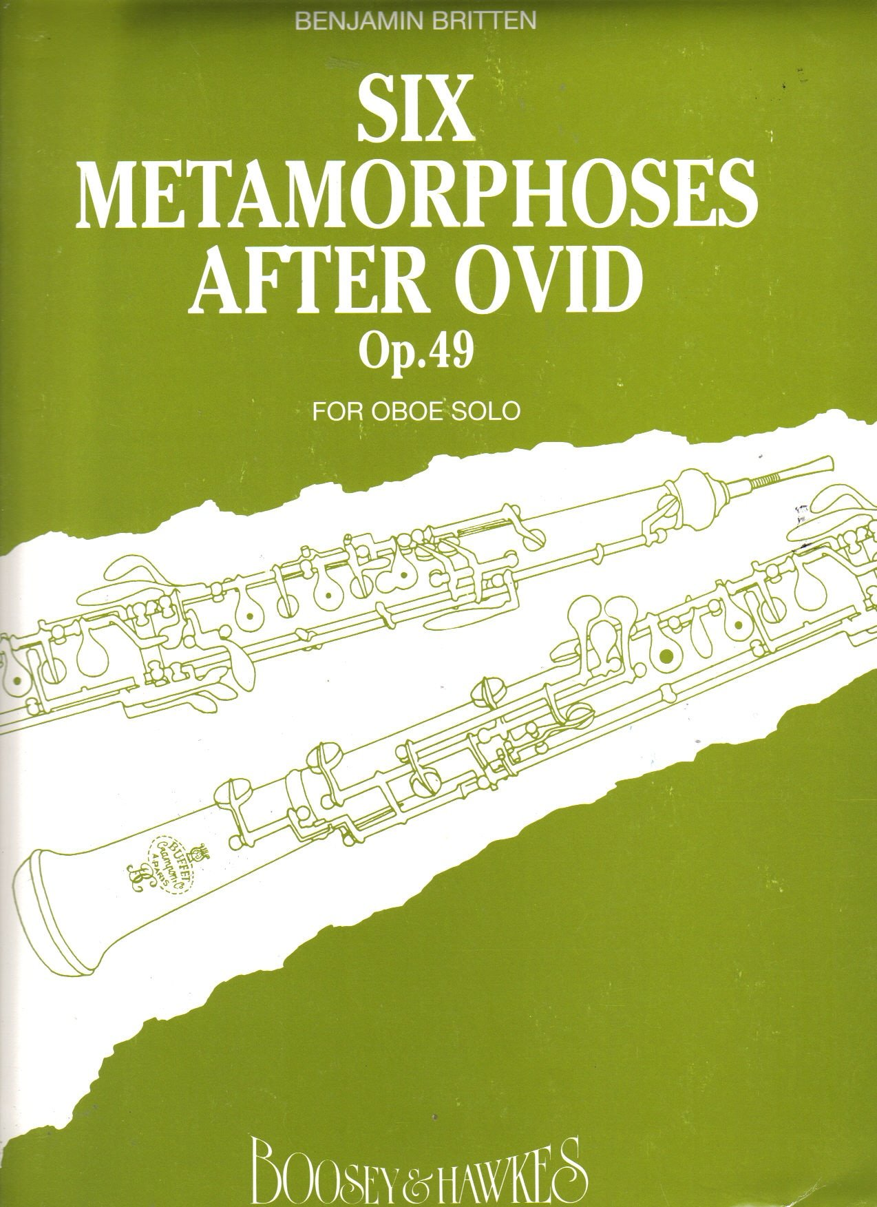 Six Metamorphoses after Ovid. Op. 49. For oboe solo, etc