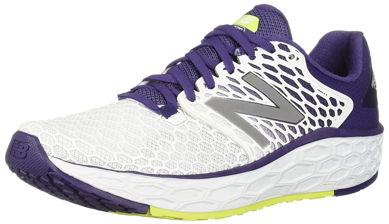 New Balance Women's Vongo V3 Fresh Foam Running Shoe B075R7PSJY 11 W US|White/Purple