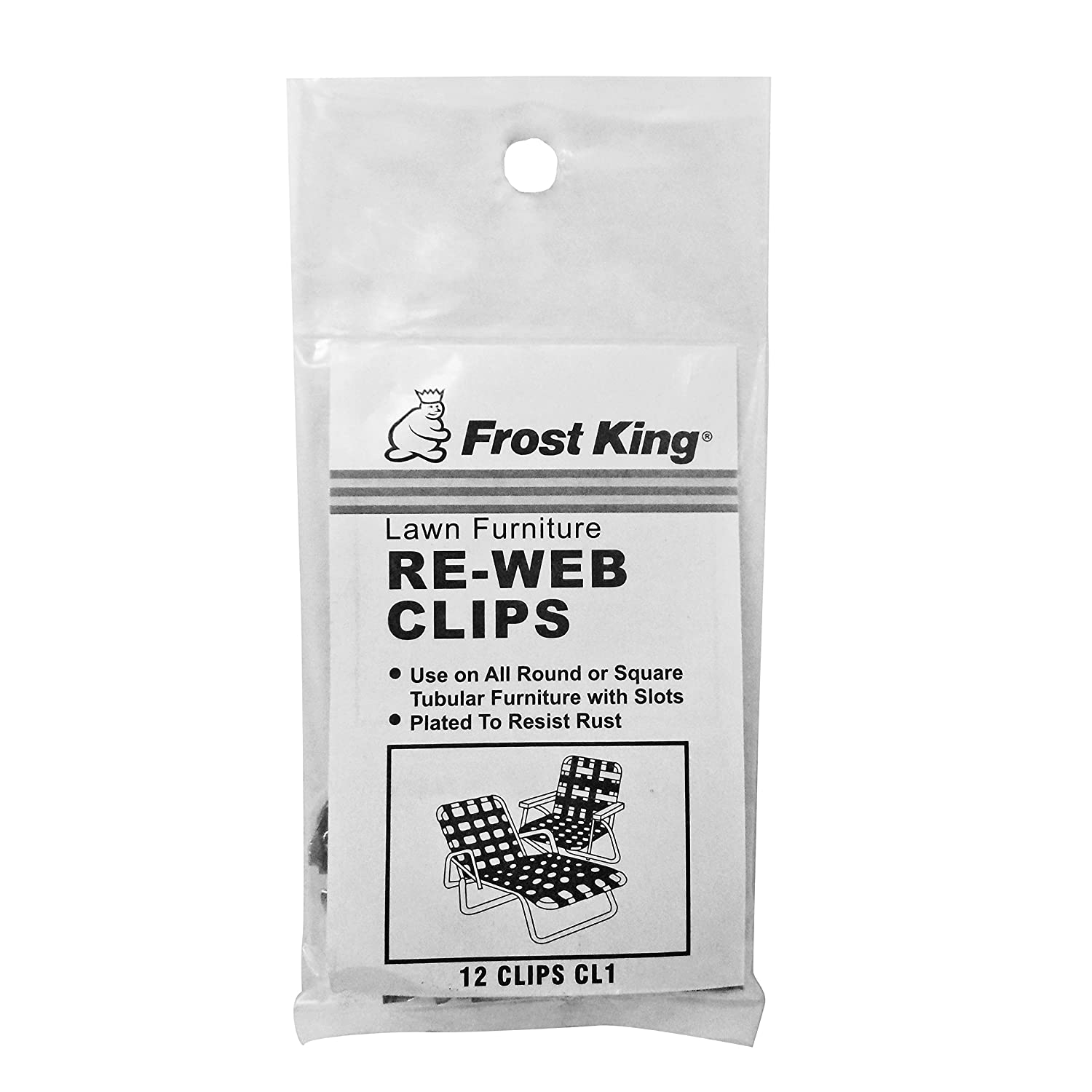 Metal chair feet clips - Amazon Com Frost King Cl1 Clips For Furniture Re Webbing Silver Home Improvement