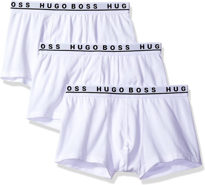 Hugo Boss Men's 3-Pack Stretch Cotton Regular Fit Trunks
