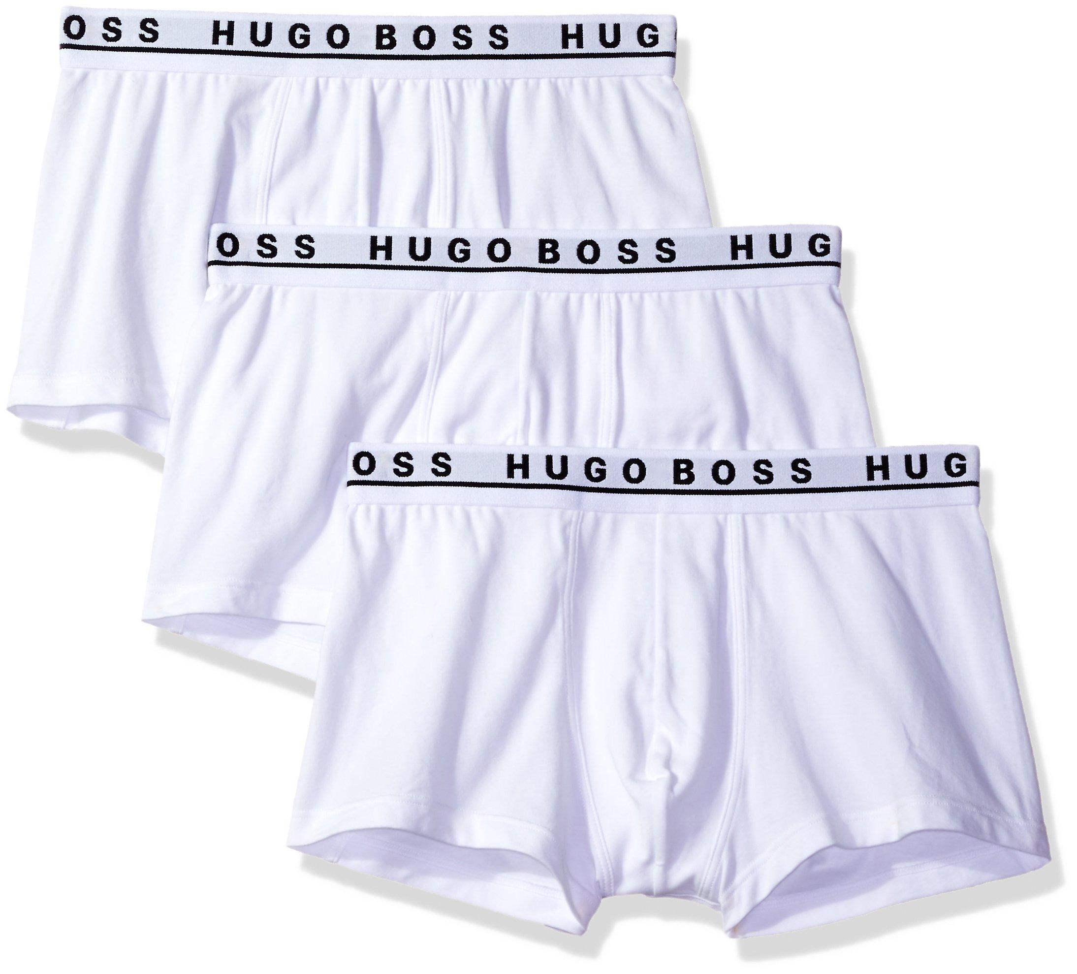 Hugo Boss BOSS Men's 3-Pack Stretch Cotton Regular Fit Trunks, White, Medium by Hugo Boss