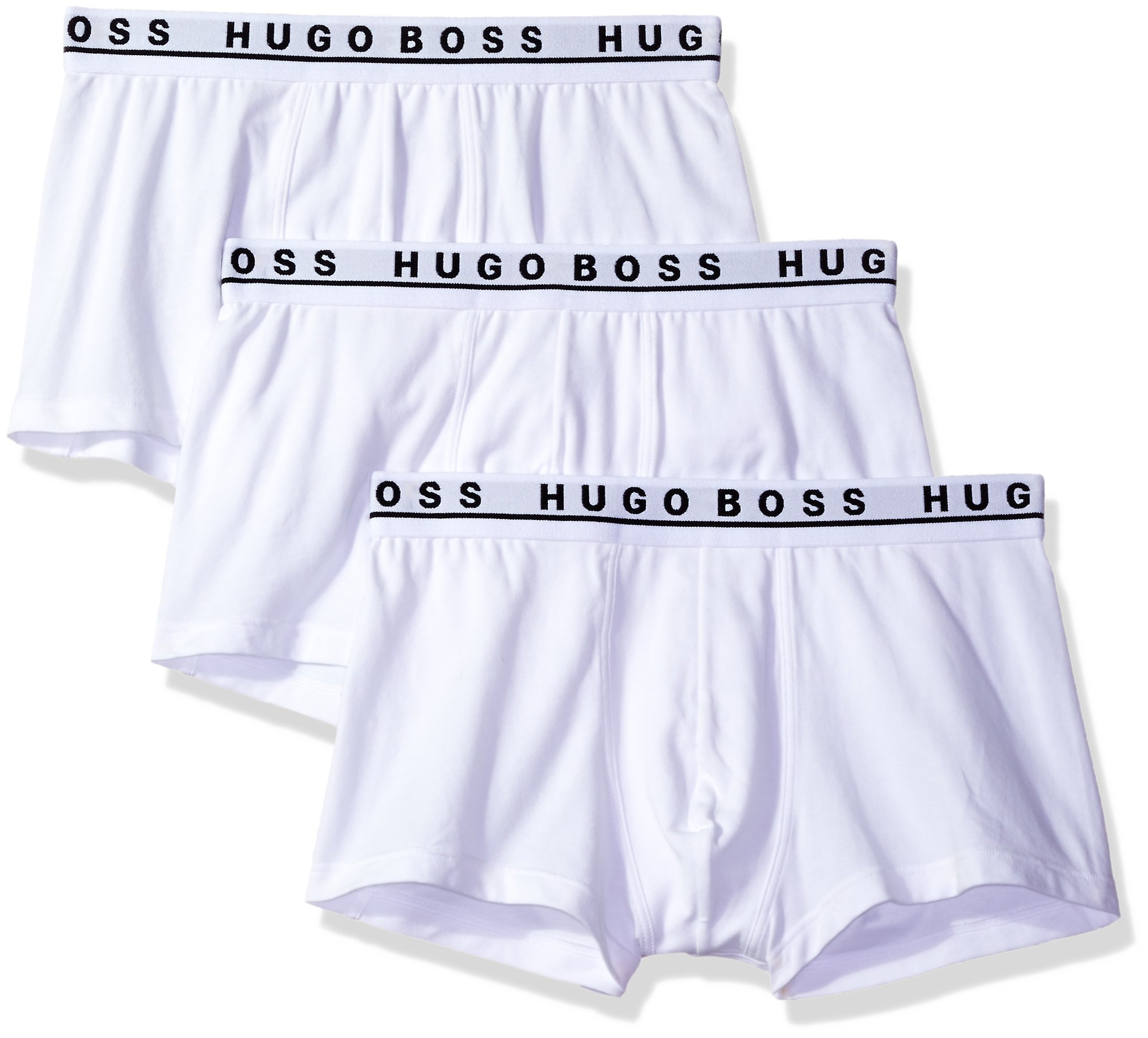 Hugo Boss BOSS Men's Trunk 3p Co/el 10146061 01, White, Medium