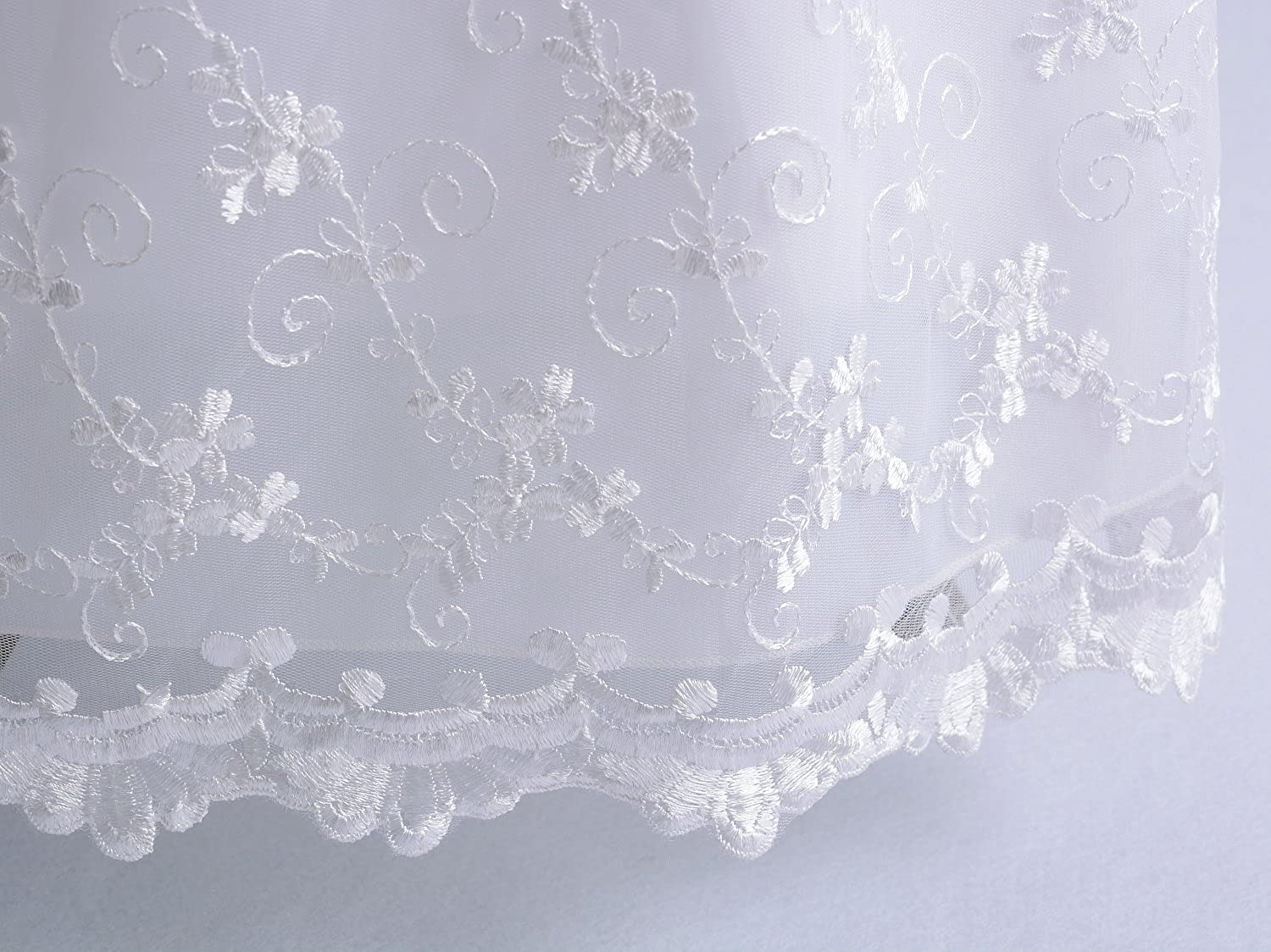 Cinda Baby Girls Lace Long Christening Gown with Bonnet 508
