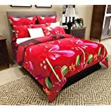 Home Candy Elegant 152 TC 3-D Double Bedsheet with 2 Pillow Covers - Floral, Multicolour