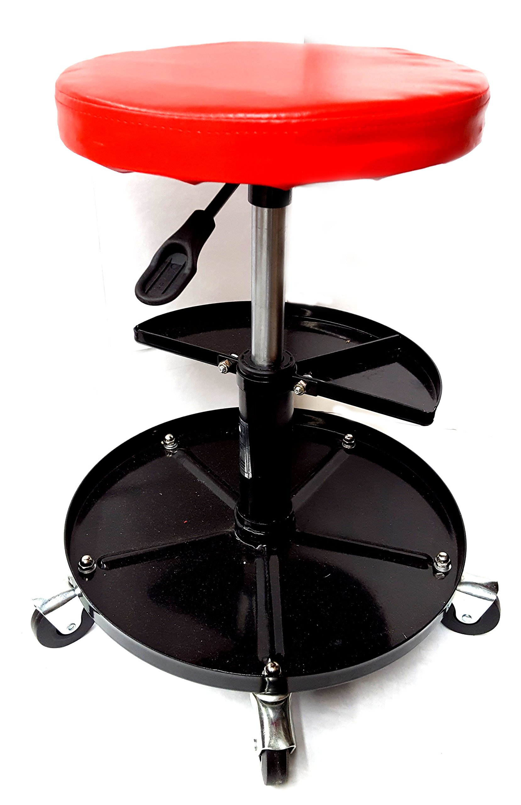Voyager Tools Adjustable 20'' Shop Seat With Bonus Tray Professional Air Roller Seat