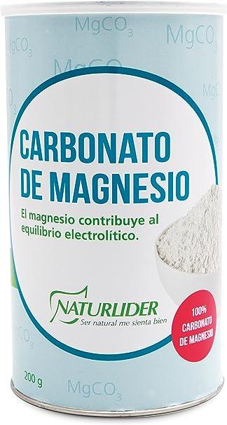 Naturlider Carbonato Magnesio 1 Unidad 21 g: Amazon.es: Salud y cuidado personal
