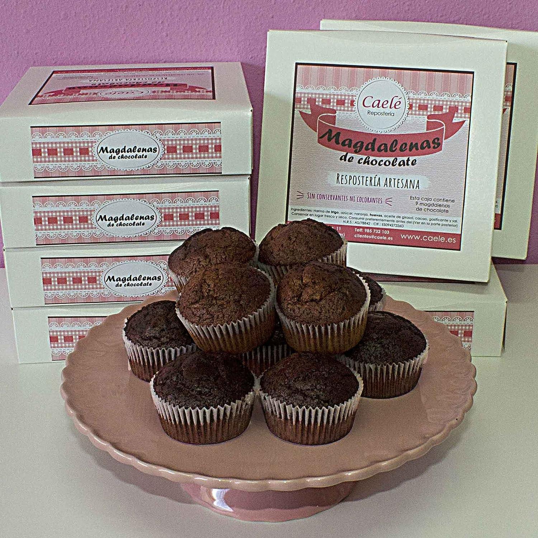 Magdalenas de Chocolate artesanas - Caelé Repostería -: Amazon.es: Alimentación y bebidas