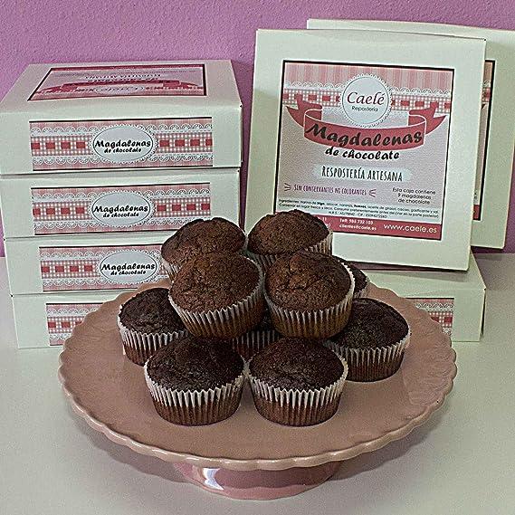 Magdalenas de Chocolate artesanas - Caelé Repostería -