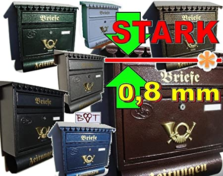 Großer Briefkasten In Vielen Farben Zb Grün Weiss Schwarz Blau