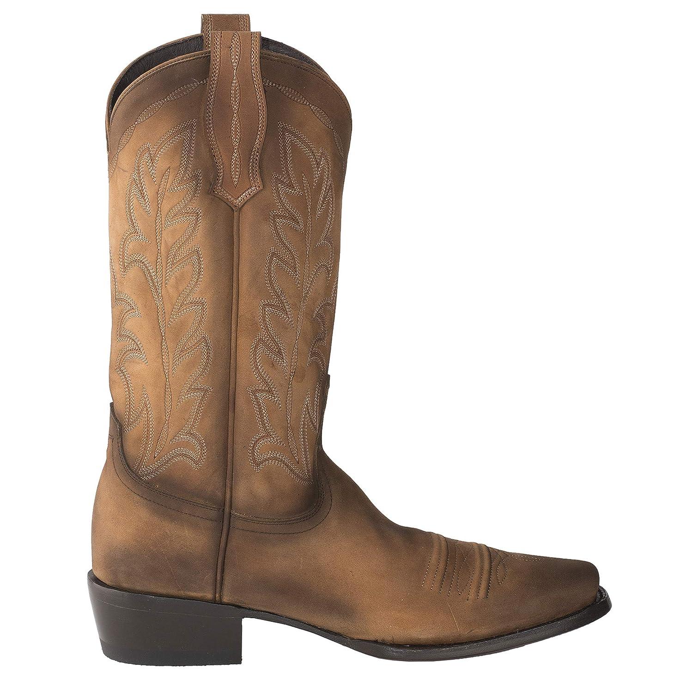 Lane Mens Ranahan Western Cowboy Boot Hazelnut
