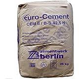 25Kg Zement CEMII / B-S 42,5 N zum Betonieren Mauern Putzen und Herstellung von Mörtel und Beton