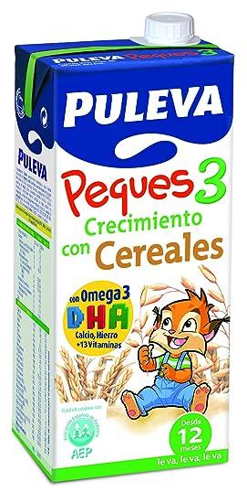 Puleva Leche Infantil Peques 3 Crecimiento con Omega 3 y Cereales - Pack de 6 x 1 l - Total: 6 l: Amazon.es: Amazon Pantry