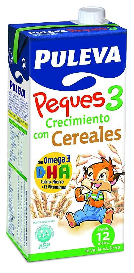 Puleva Leche Infantil Peques 3 Crecimiento con Omega 3 y Cereales - Pack de 6 x