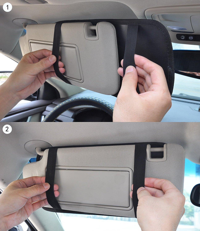 Car Visor Organizer CD Holder 12 Pockets wallet Storage Disc DVD VCD Disk Case