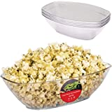 64 Oz. Clear Plastic Serving Bowls (5 Pack) Oval Disposable Serving Bowls for Parties - Large Plastic Bowls for Salad…