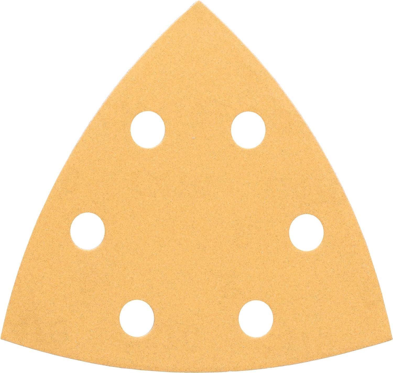 Disque Abrasif pour Ponceuses Delta 6 Trous Jaune Lot de 5 93mm 240 Grain