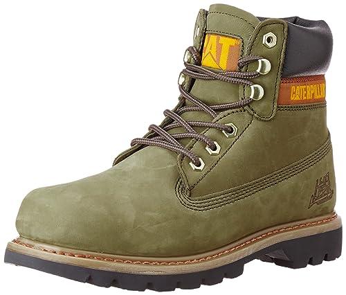 Cat Footwear - Botas De Nieve de cuero hombre, color verde, talla 42: Amazon.es: Zapatos y complementos