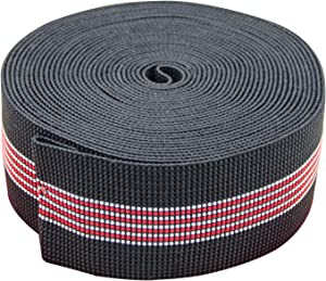 """PBNICE Sofa Elastic Webbing Stretch Latex Band Furniture Repair DIY Upholstery Modification Elasbelt Chair Couch Material Replacement Stretchy Spring Alternative TWO Inch 2"""" Wide x Twenty Ft 20"""" Roll"""