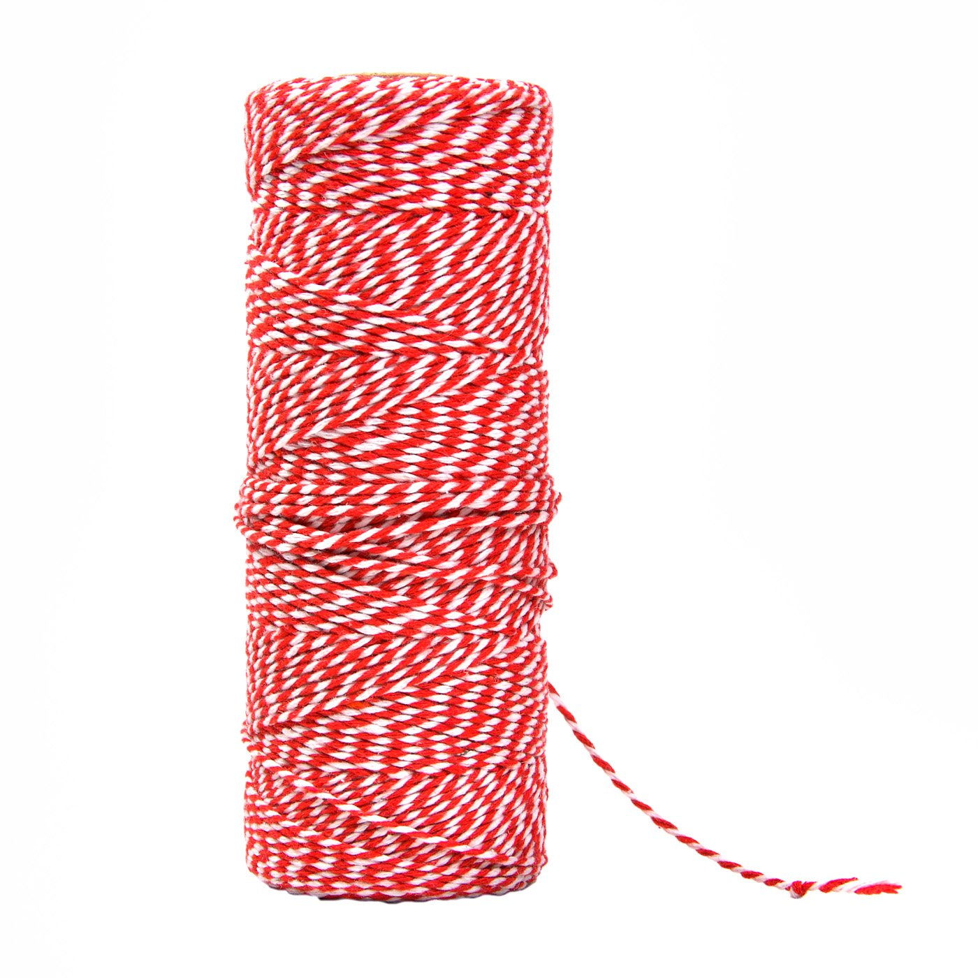 Bakers Twine Red and White String 2 mm, Packing Twine String for Gifts Wrapping And Gardening Applications Yolito