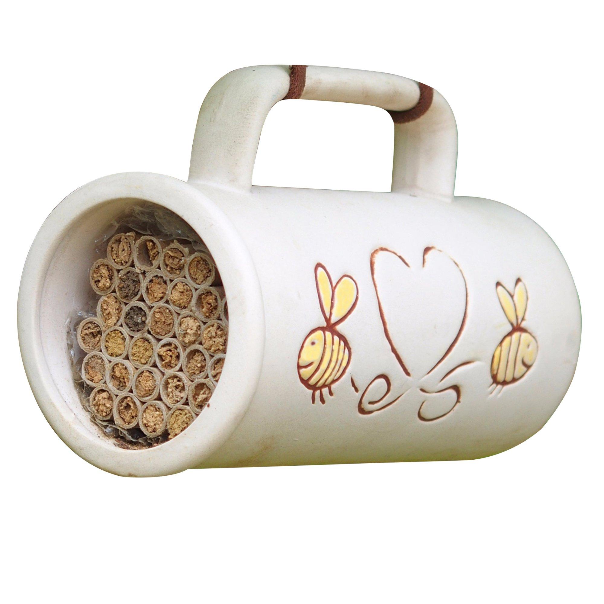 Wildlife World Pollinating Bee Mug (One Size) (White) by Wildlife World Ltd