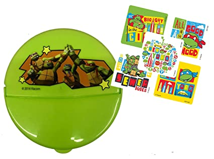 Amazon.com: Ninja Turtles Kids Reusable Snack Container with ...