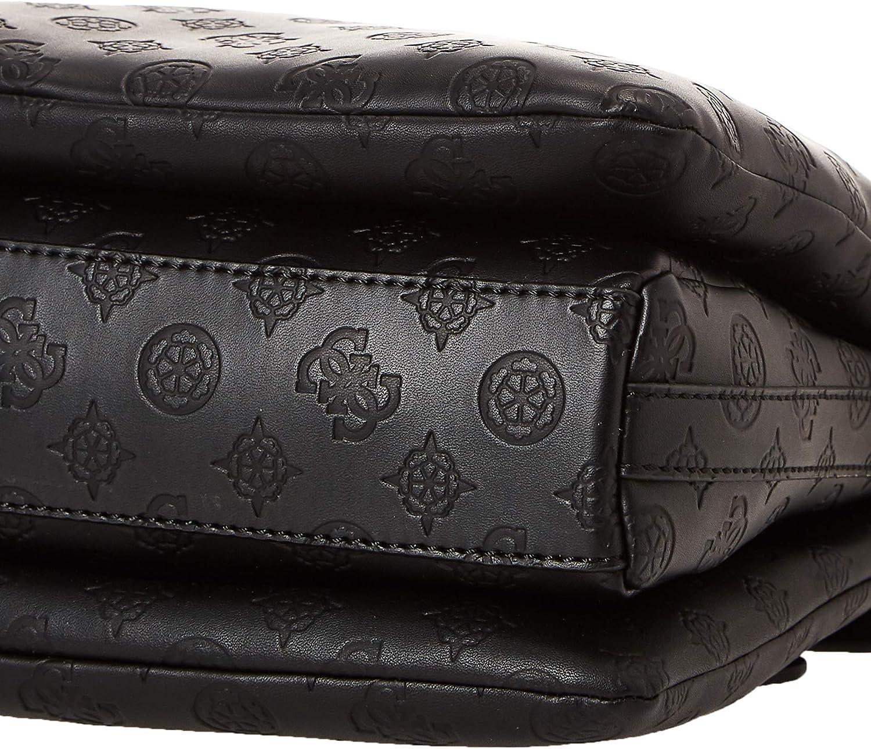 GUESS Digital Status Satchel Handtasche Umhängetasche Tasche Black Schwarz