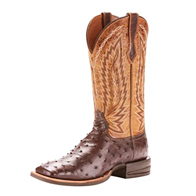 2ac868809f0 ARIAT Men s Relentless Platinum Western Boot Tabacco Full Quill Ostrich Size  7.5 M Us