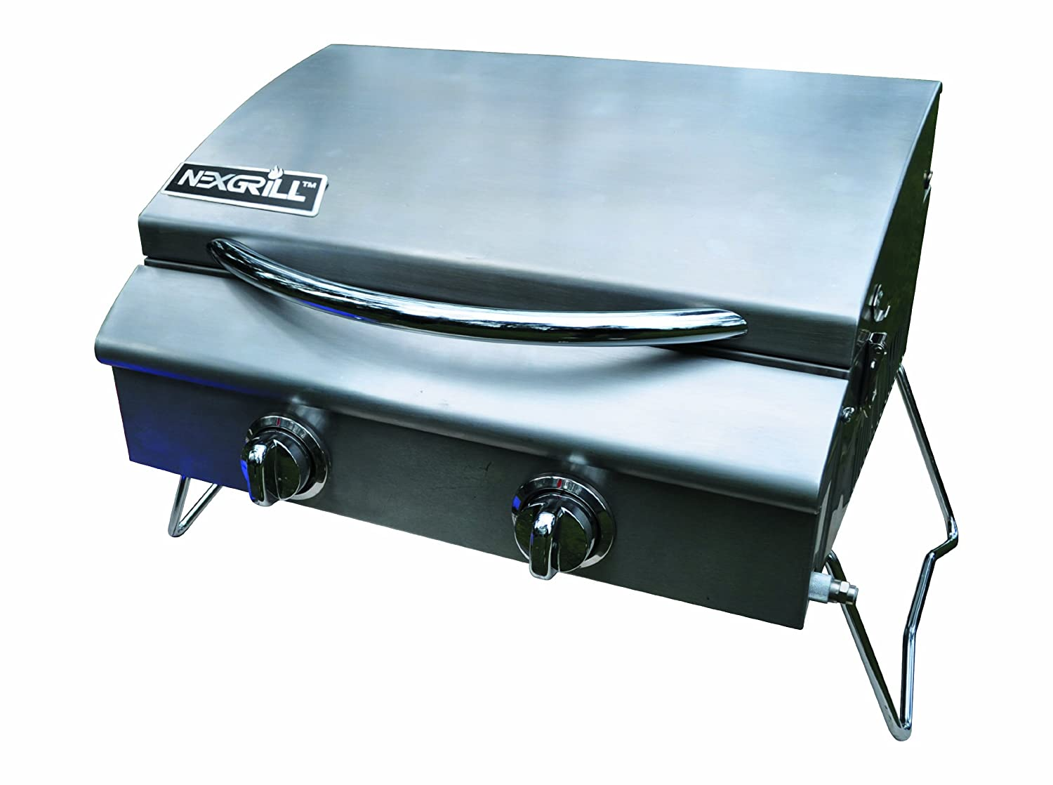 Amazon.com: Nexgrill 820 0015 2 Burner Table Top Gas Grill With Tank  Regulator: Garden U0026 Outdoor