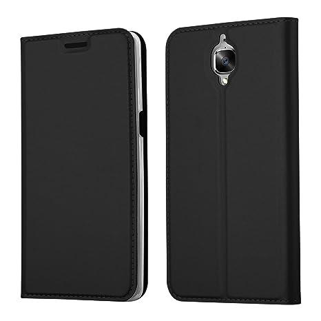 Cadorabo Funda Libro para OnePlus 3 / 3T en Classy Negro – Cubierta Proteccíon con Cierre Magnético, Tarjetero y Función de Suporte – Etui Case Cover ...
