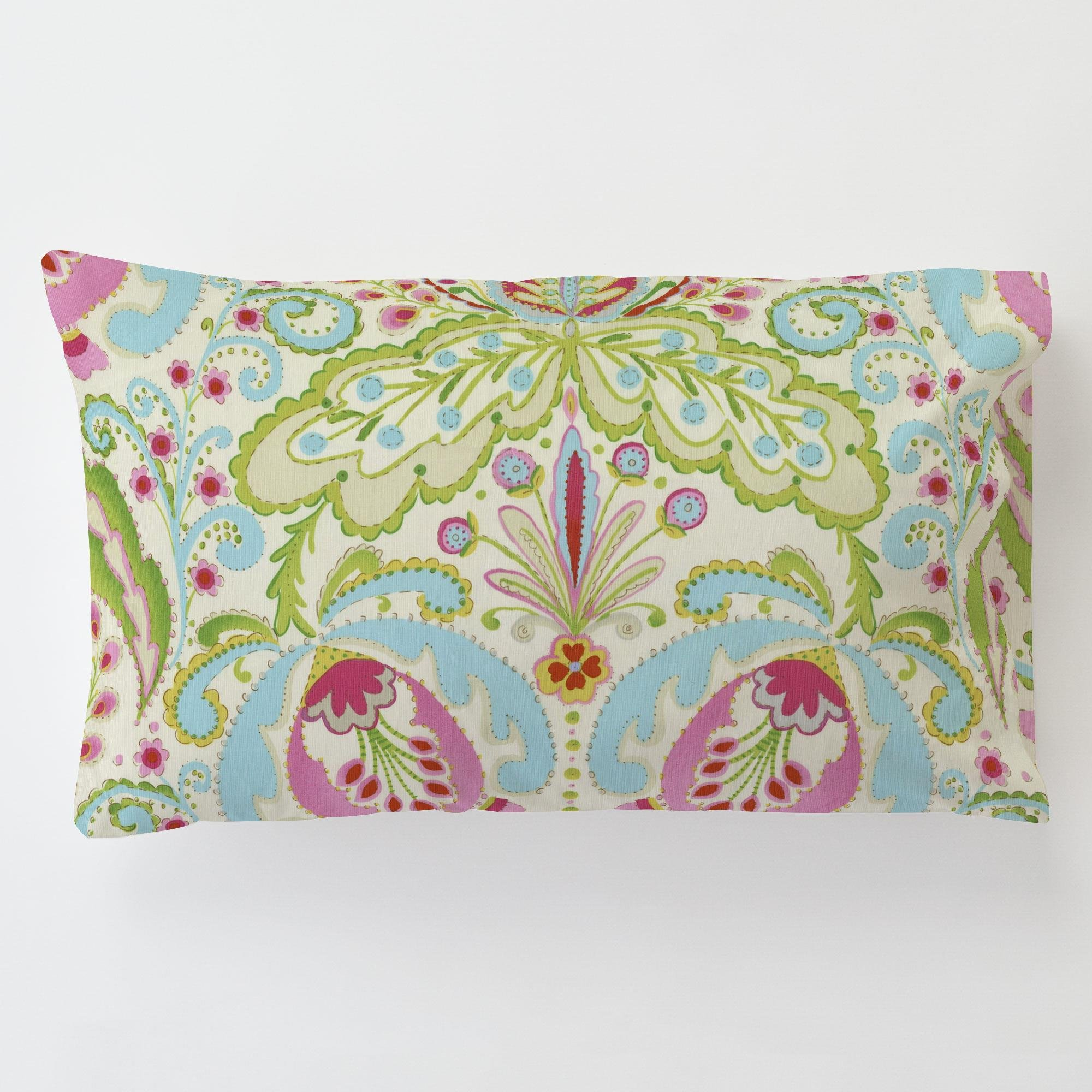 Carousel Designs Kumari Garden Teja Toddler Bed Pillow Case with Pillow by Carousel Designs