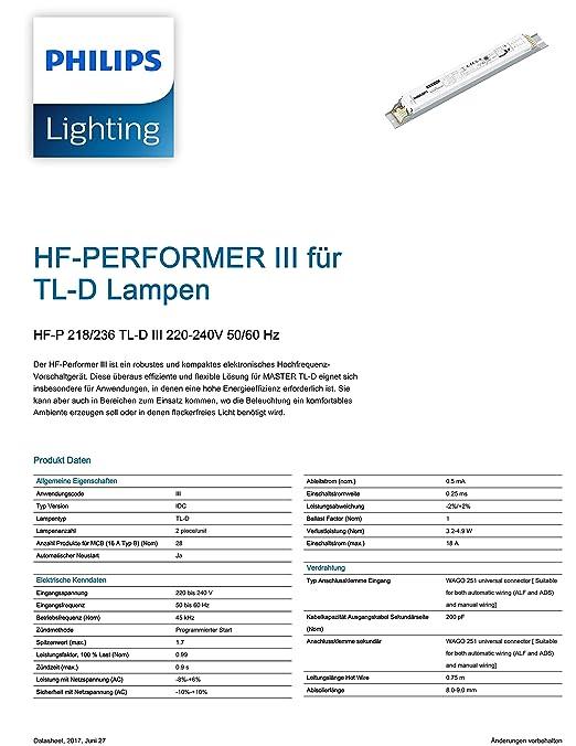 Philips High Frequency 2x36 TL-D Electronic Ballast - Runs 2x 36W ...