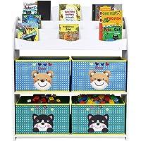 Homfa Estantería para Juguetes Libros Librería Infantil Organizador