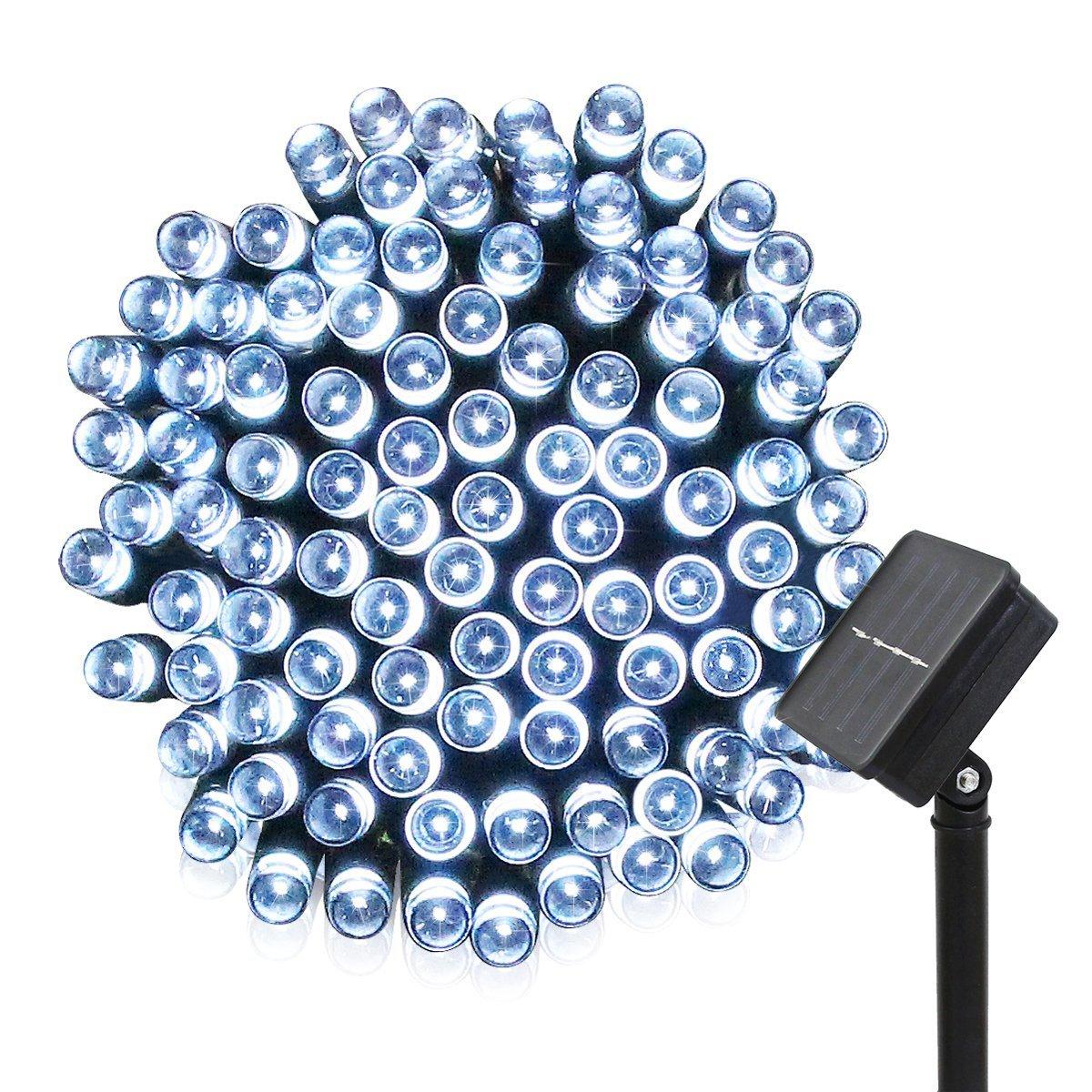「KYC」 20m200球 LED ソーラー ストリングライト クリスマスイルミ 2パターン発光モード 光センサー 自動点灯 自動消灯 太陽発電イルミネーション 「ホワイト」 B0734NM1DP 14074 Cold White Cold White