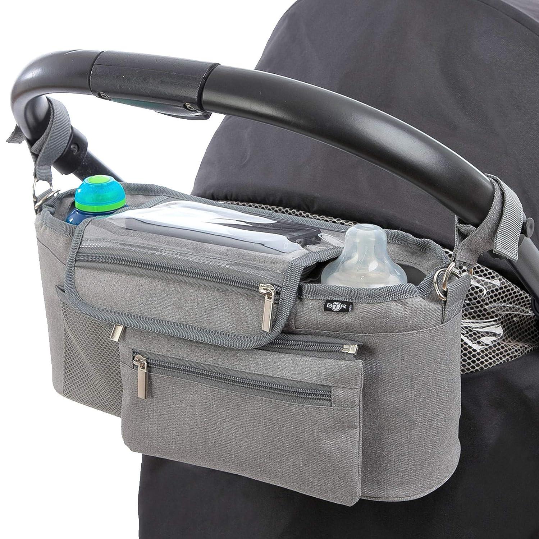 Rosa LLMZ Kinderwagen Organizer 1PCS Kinderwagen Organizer Buggy Bag Kinderwagentasche Universal f/ür alle Stroller-Modelle