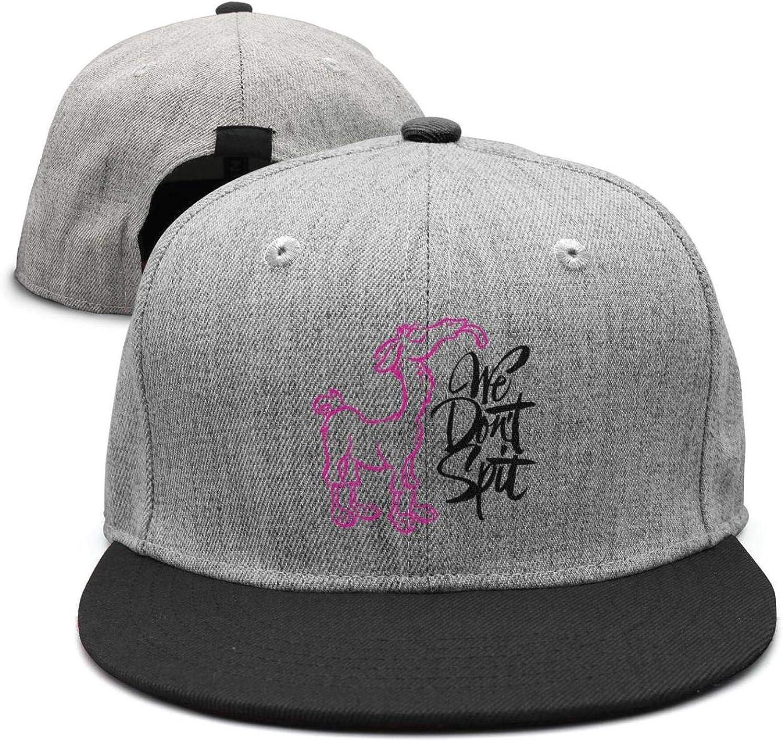 YHNBHI Llama-Corn Unisex Punk Hip-hop Flat-Along Adjustable Cricket Cap Vintage Baseball Hats