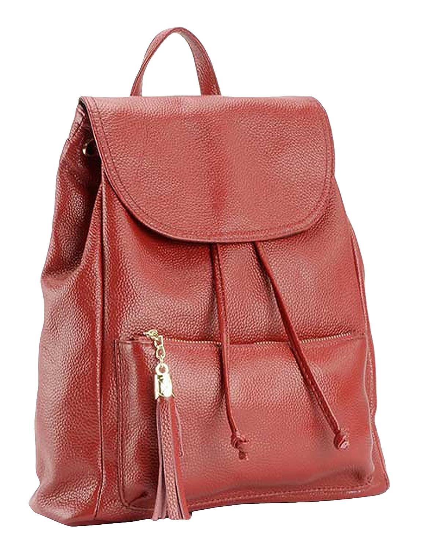 SAIERLONG MsBP Ladies Designer Womens Cowhide Genuine Leather Daily Casual Backpack