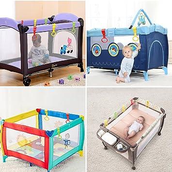 FITFIRST Anillas para Cunas y Parques del Bebé 6 Pcs de 3 Colores