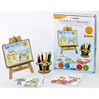 Funvention Little Art Gallery - Express Your Imagination - Puzzle & Colouring Art Kit - DIY & Craft Toy - STEM Learning Toys - Birthday Return Gift
