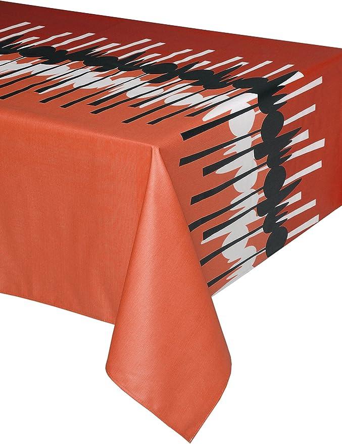 Mantel antimanchas Spoon 50% algodón 50% poliéster con protección de resina y Teflón de Dupont(R) - D150 - Rojo: Amazon.es: Hogar