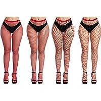Fishnets Tights Ladies Fishnet Stockings Thin Fishnet Pantyhose Red Cross Mesh Stockings Sexy Pantyhose for Women(big…