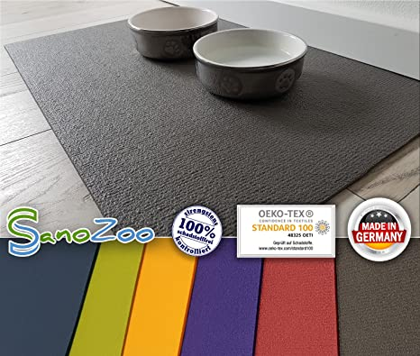 Sanosoft SanoZoo Napfunterlage - Öko-TEX - Made in Germany - Futtermatte für Hunde & Katzen